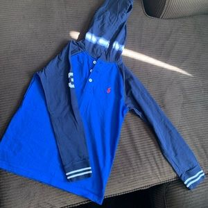 Polo hooded shirt